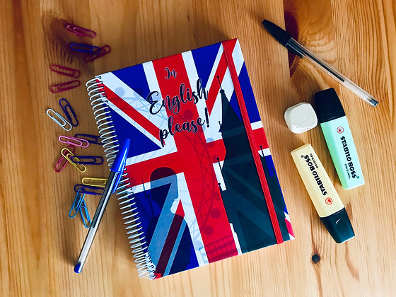 "Cuaderno ""In English please!"" UK"