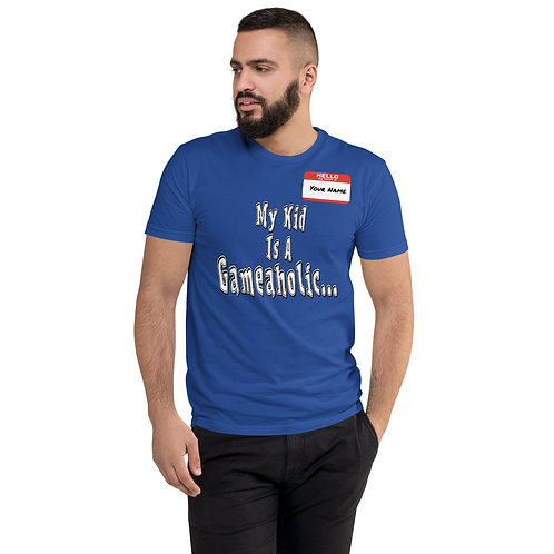 "Men's Custom ""My Kid Is A Gameaholic"" T-shirt (Members get up to 60% OFF!)"