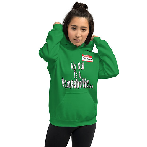 "Unisex Custom ""My Kid Is A Gameaholic"" Hoodie (Members get up to 60% OFF!)"