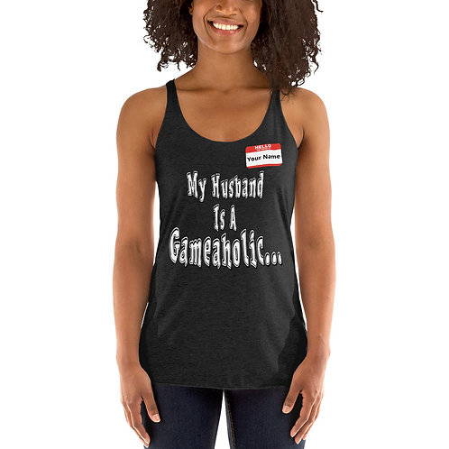 "Women's Custom ""My Husband Is A Gameaholic"" Tank (Members get up to 60% OFF!)"