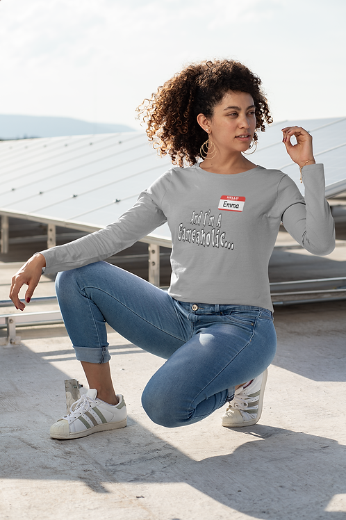 "Women's Custom "" Im A Gameaholic"" Long Sleeve (Members get up to 60% OFF!)"