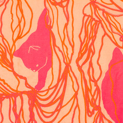 Fluo Pink Shawl Detail