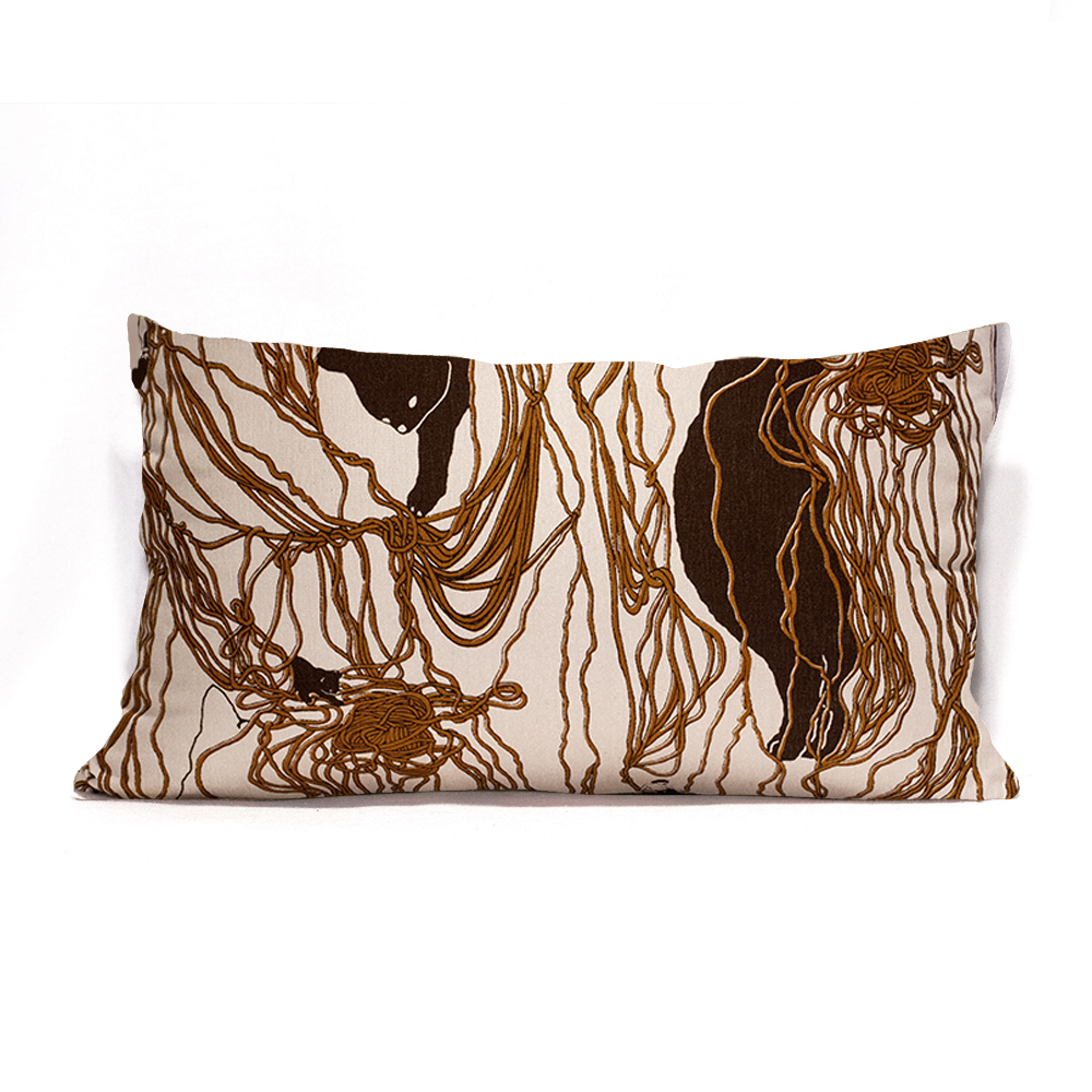 Brown Wool Ball S Pillow Case
