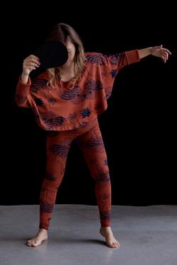 Dancers print top and leggings