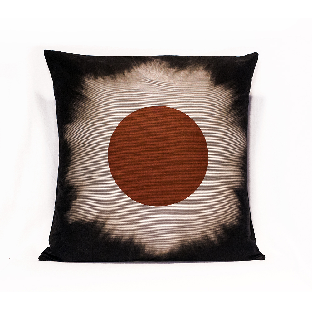 Striped Red Eclipse Pillow