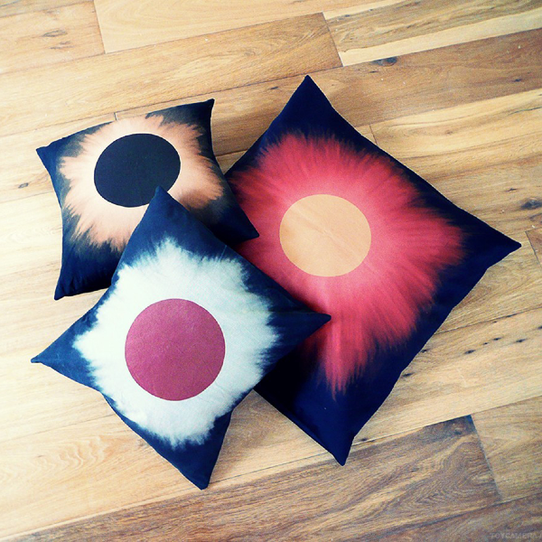 Set of Small and Big Eclipse Pillows