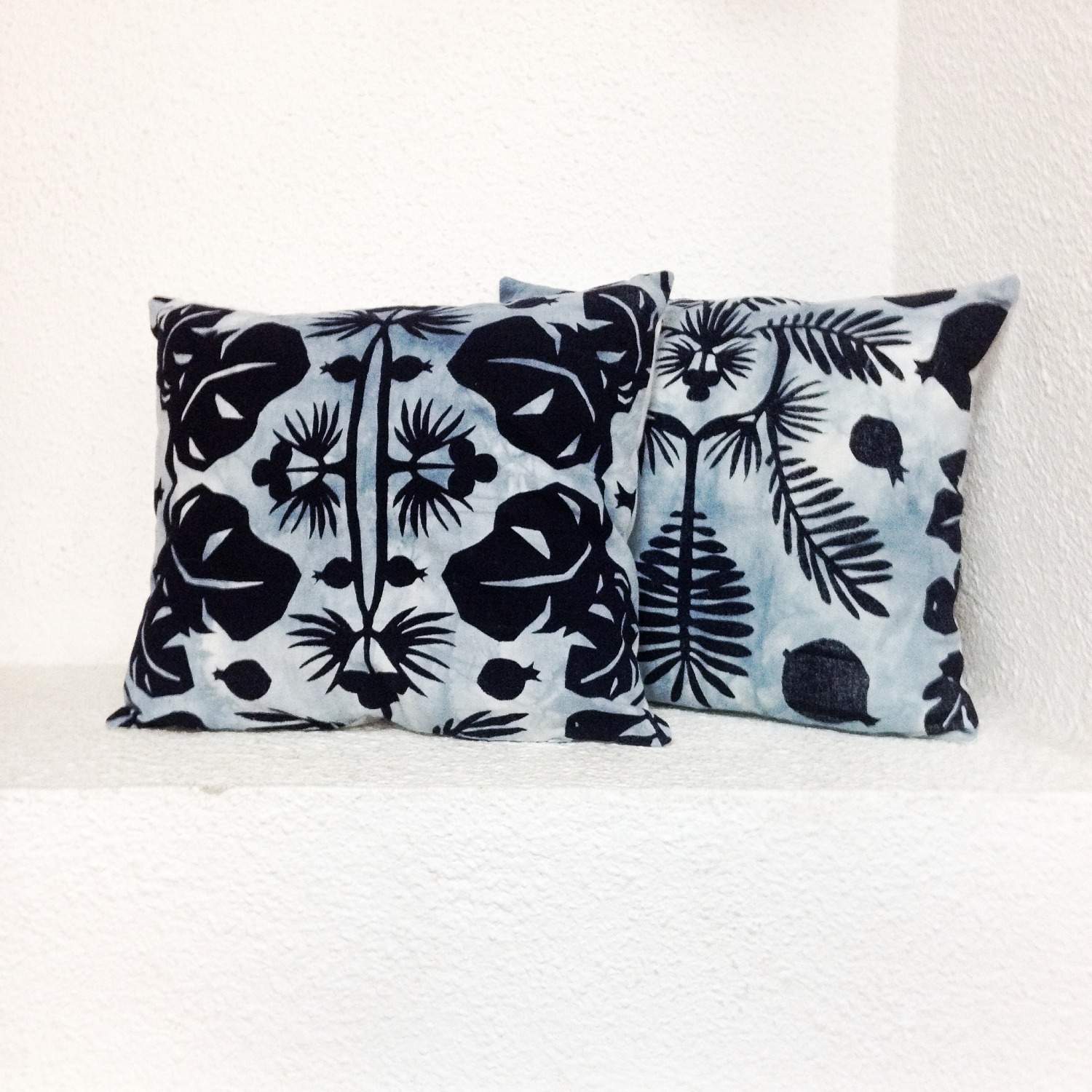 Indigo Flowers Pillows