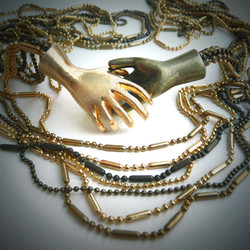 Golden Curtain Chain Necklace