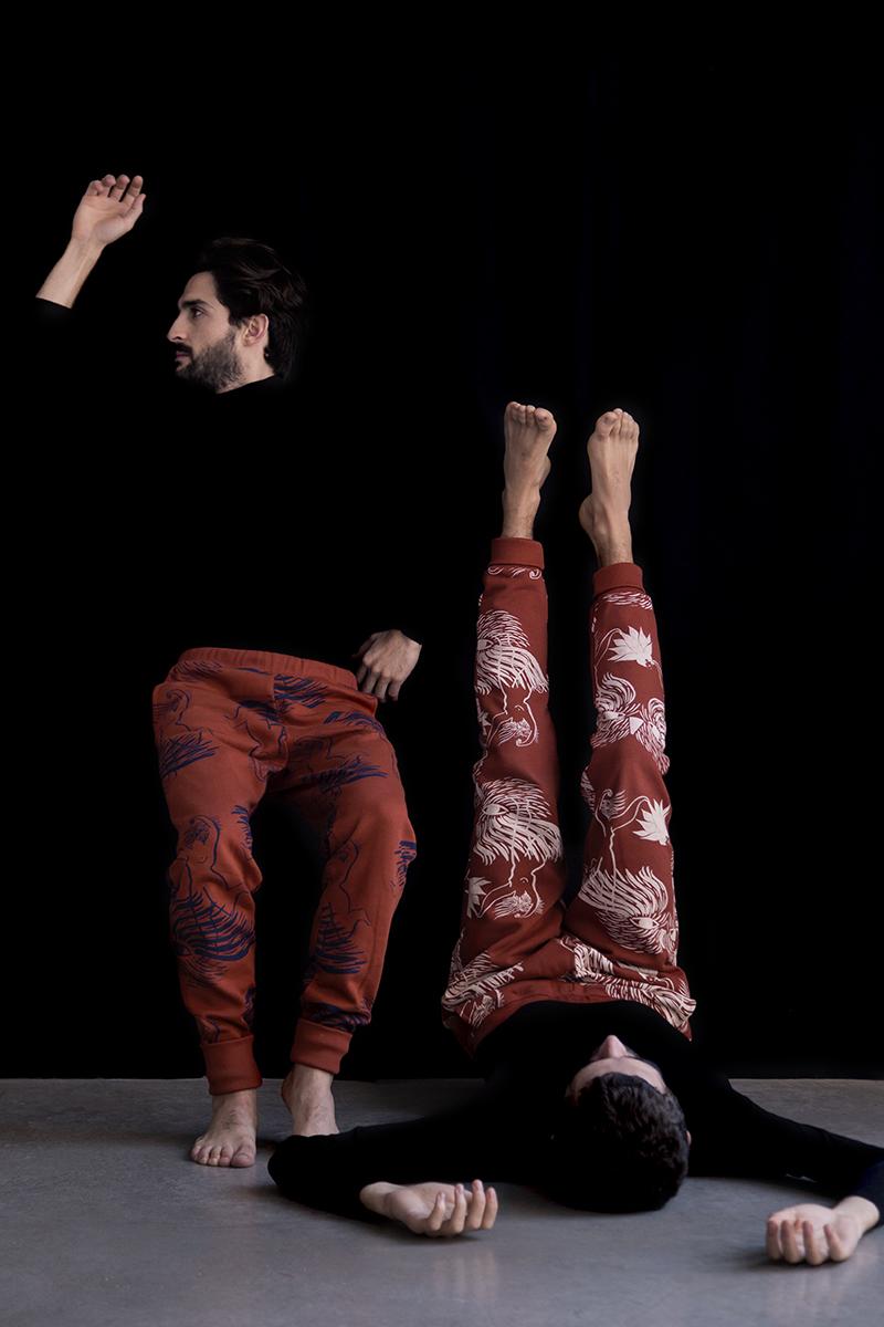 Dancers print joggings