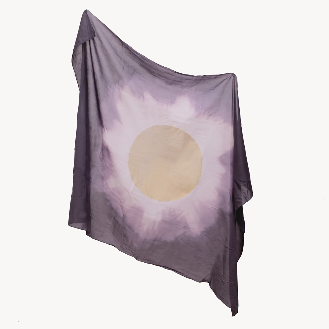 Golden Eclipse on a Grey Scarf