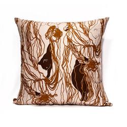 Brown Wool Ball Pillow Case
