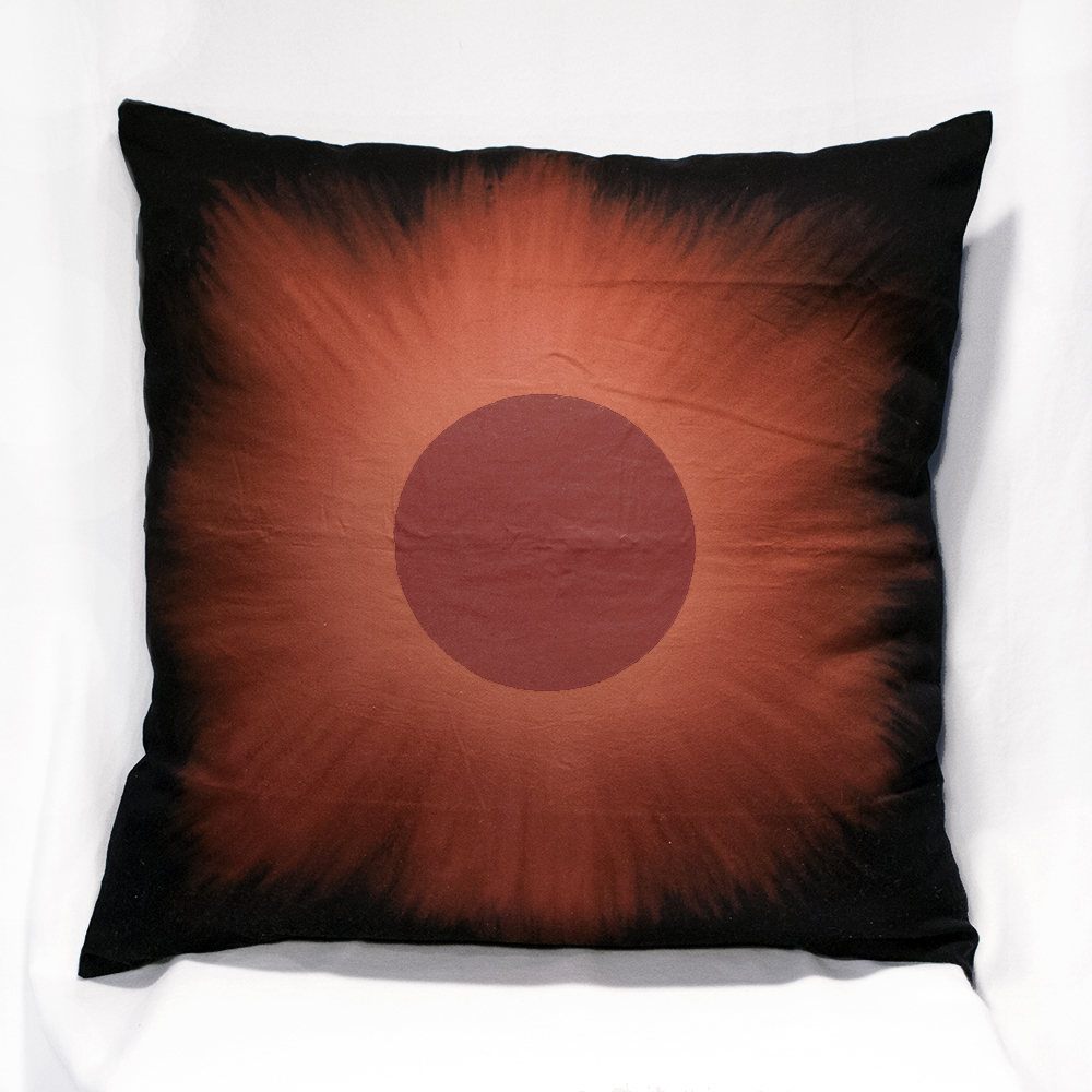 Red Eclipse on XL Pillow