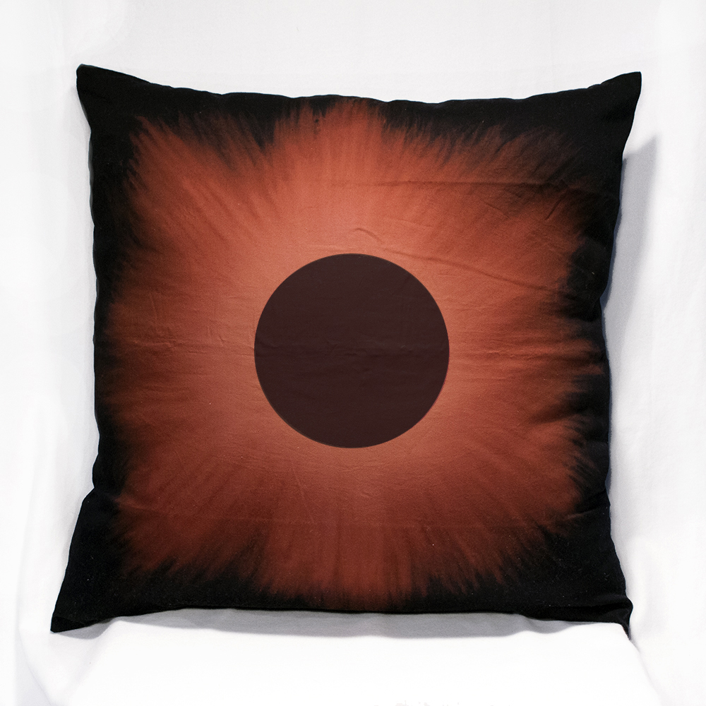 Black Eclipse on XL Pillow