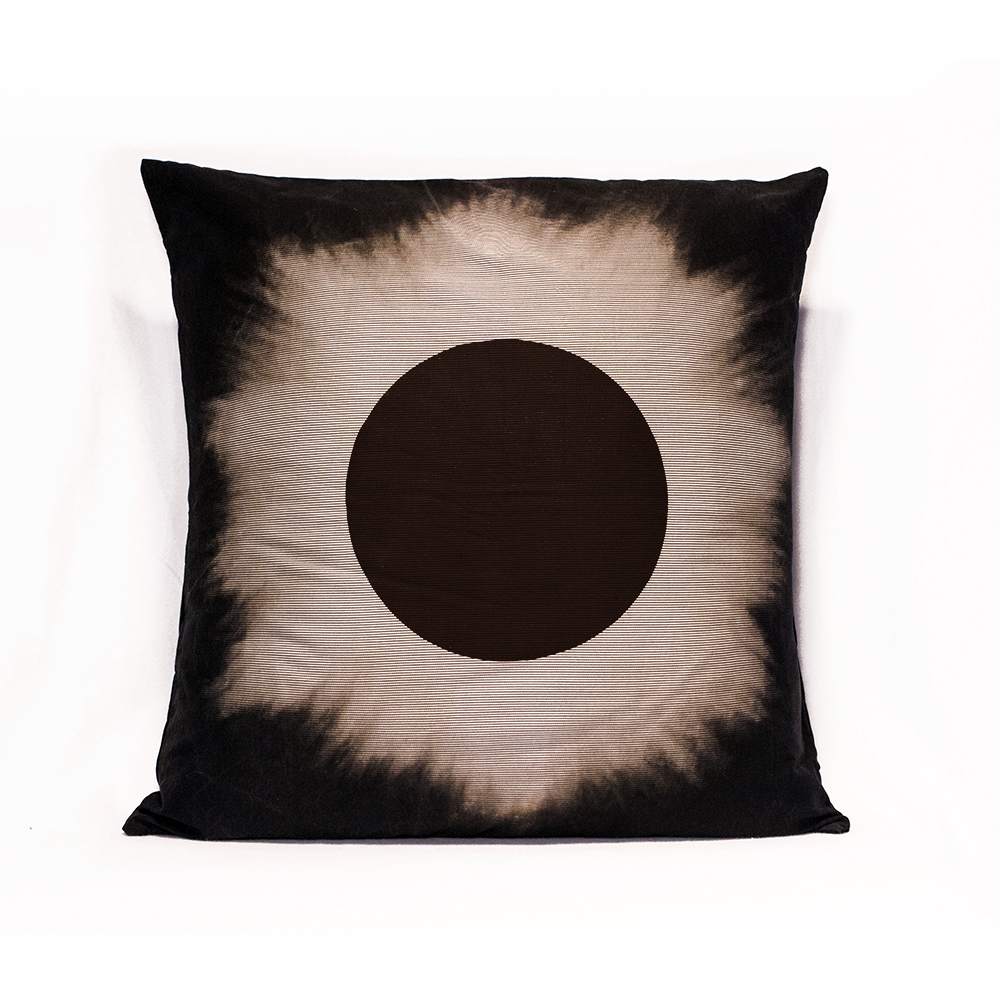 Striped Black Eclipse Pillow