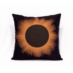 Black Eclipse Brown Halo Pillow Case