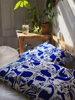 Blue animals Pillow covers