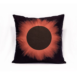 Black Eclipse Red Halo Pillow Case