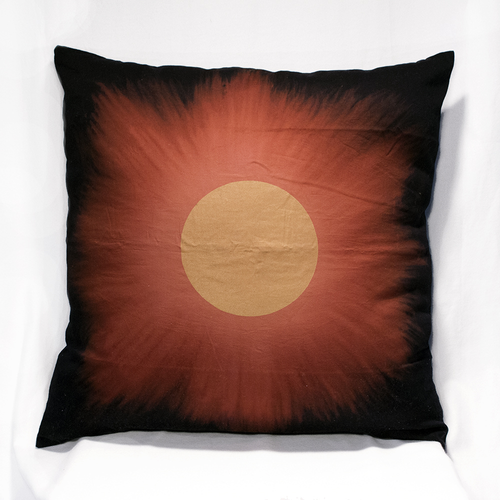 Golden Eclipse Big Pillow Case