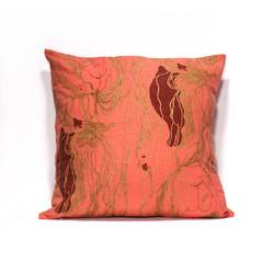 Pink Wool Ball Pillow Case