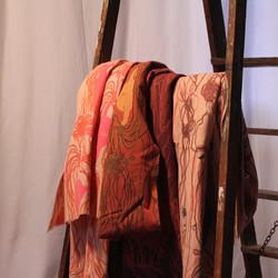 Set of Wool Ball Shawls