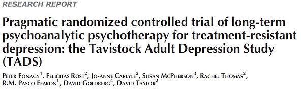 Fonagy 2012 Tavistock Adult Depression Study
