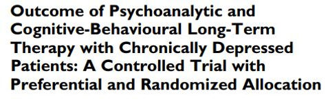 Controlled trial of psychoanalytic & cbt trial outcomes Leutzinger 2019