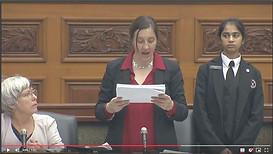 December 9, 2019: Ontario MPP Jessica Bell reading OPP's first batch of petitions into Hansard Ontario Legislature