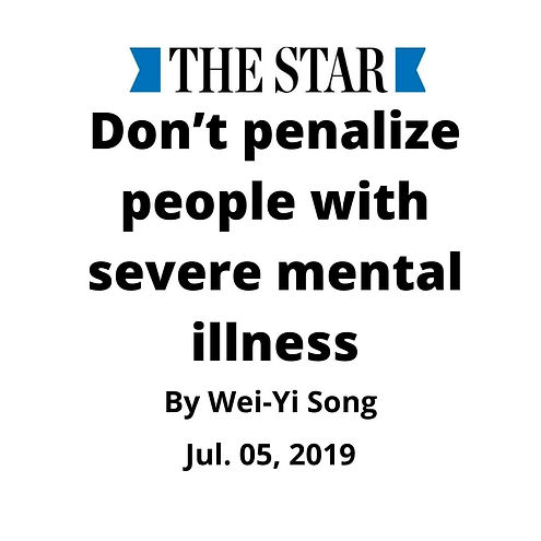 Don't penalize people with severe mental illness