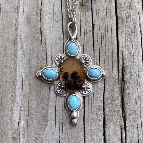 Dendrite Opal and Kazakhstan Lavender Turquoise