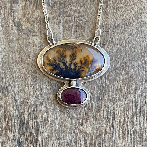 Dendritic Agate and Ruby