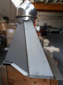 cappa in acciaio inox aisi 316L