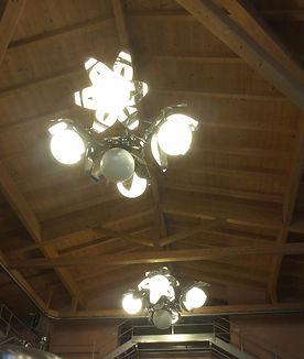 lampadario inox