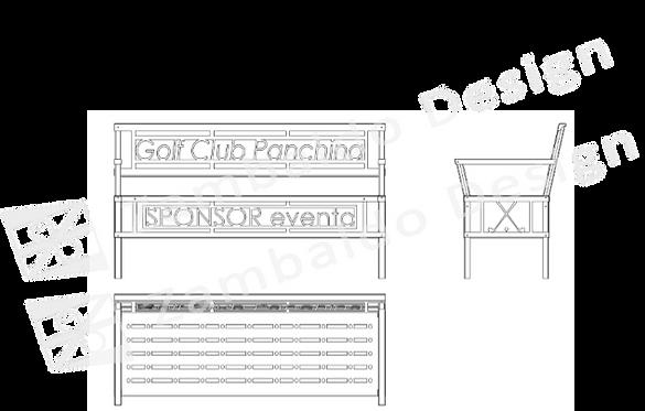 panchina speciale, panchina con logo