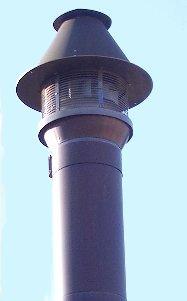 煙突の先端部