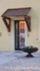 decorazione per porta ingresso, tettoia pensilina