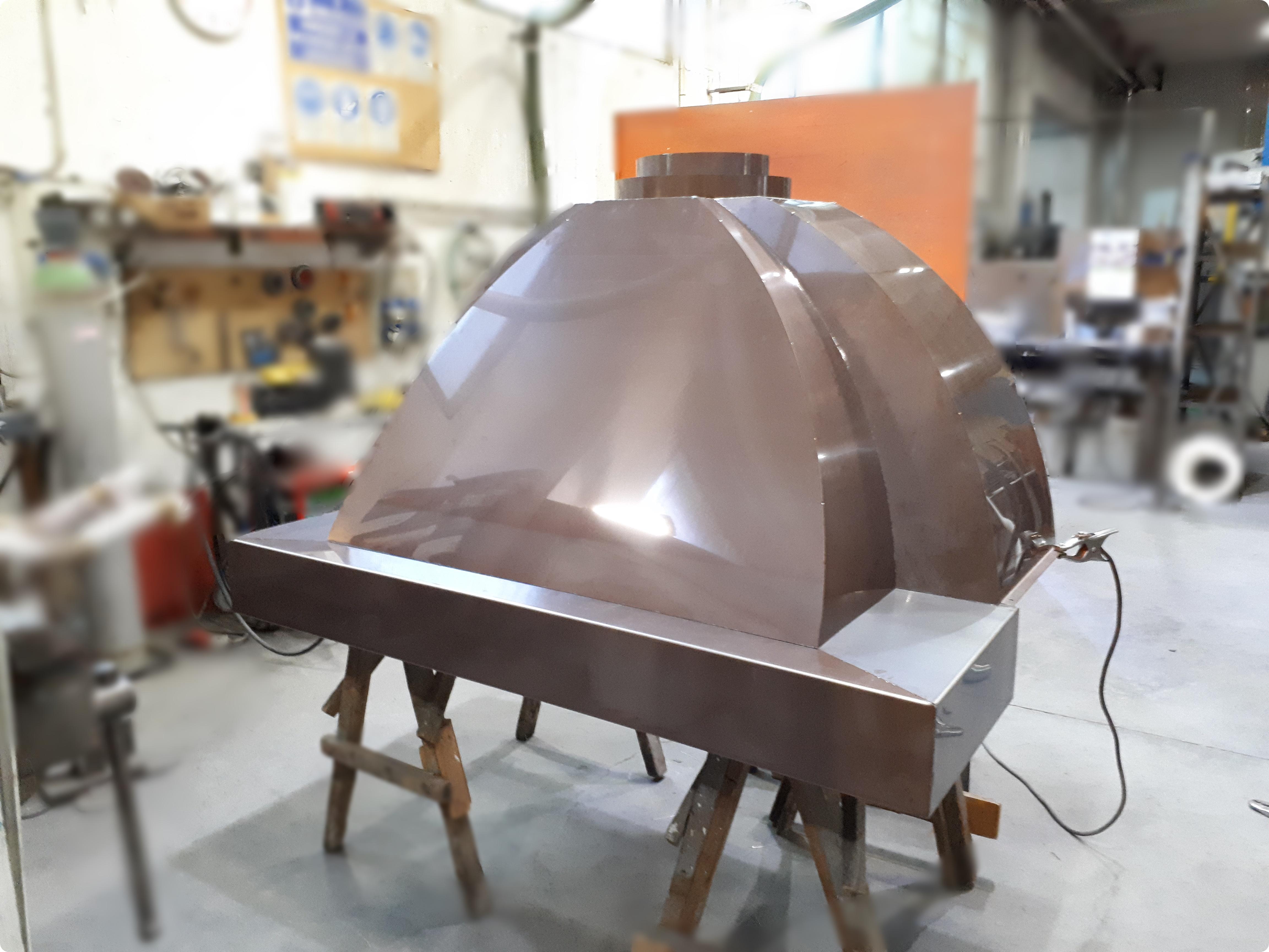 cappa per BBQ in acciaio