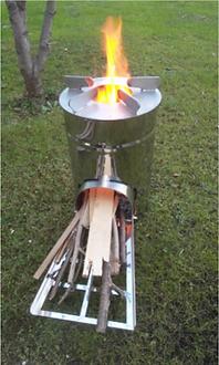 stufetta, mini stuffa, portable grill, rocket stove