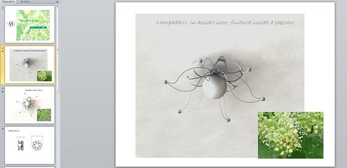 lampadario d'uva disegnio
