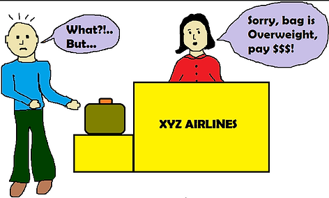 Don't fall prey to overweight baggage fees
