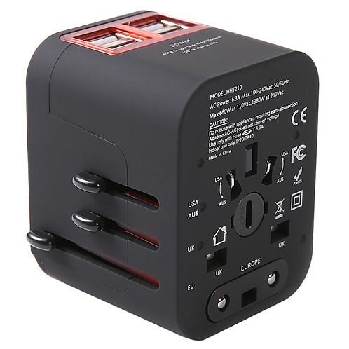 Universal Travel Adapter - 4 USB ports