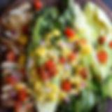 bsg grilled romaine, corn, & chicken sal