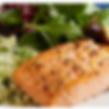 BSG broiled or grilled salmon with cousc