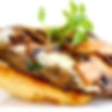 BSG vegetarian mushroom & gravy over ric