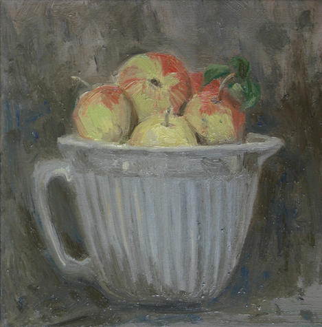 Krug mit Äpfeln