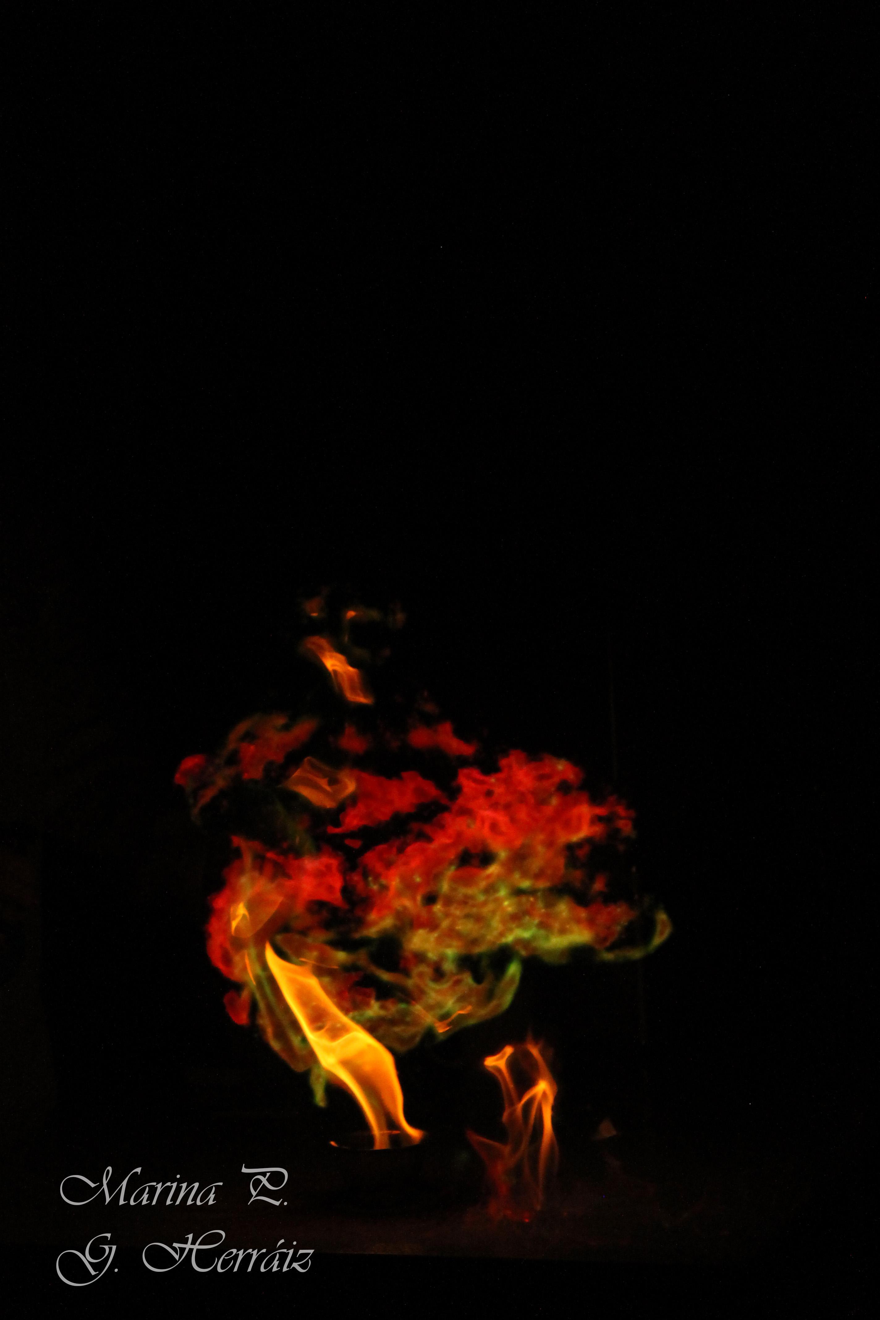 Fuego de colores