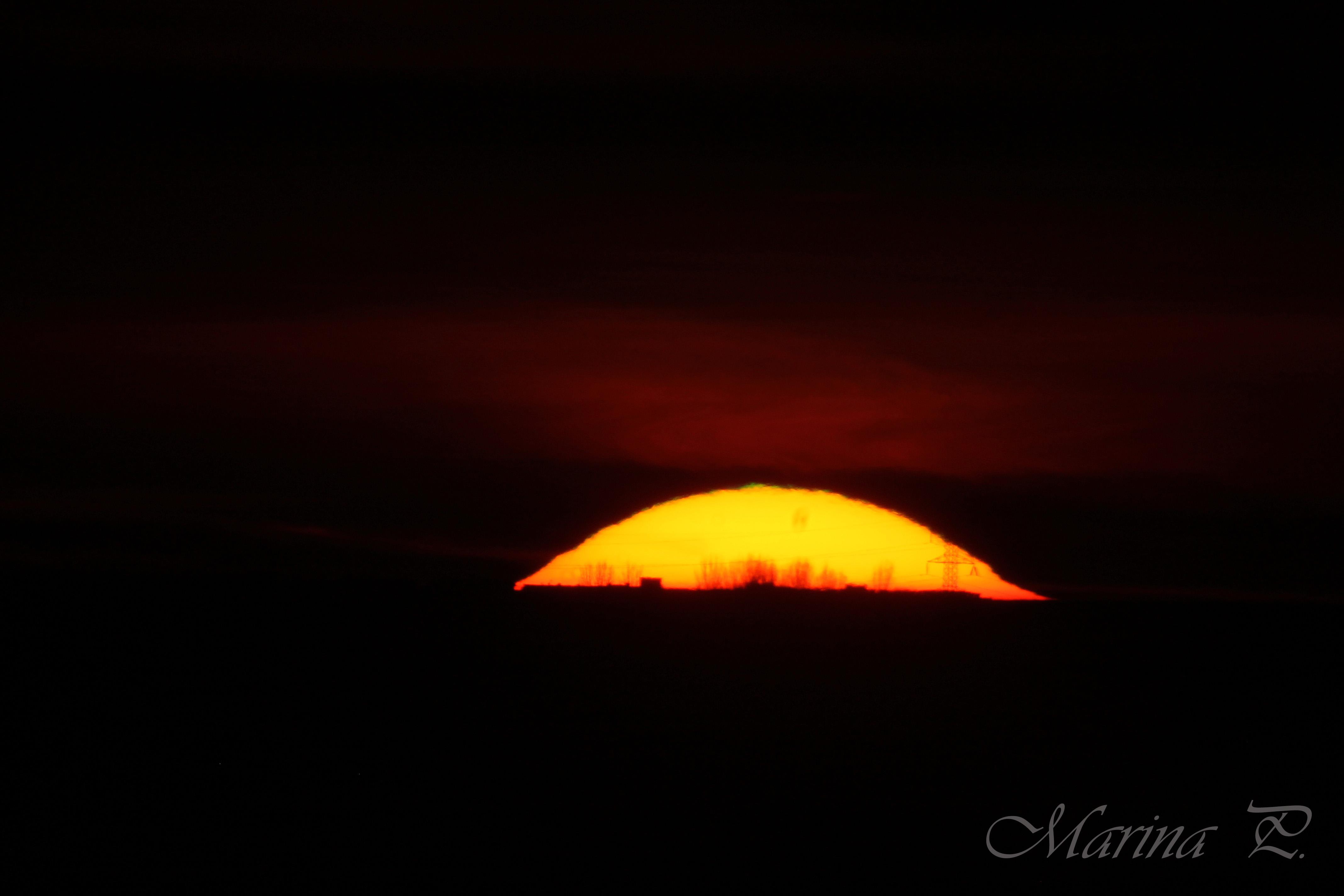 Puesta de Sol con Rayo Verde