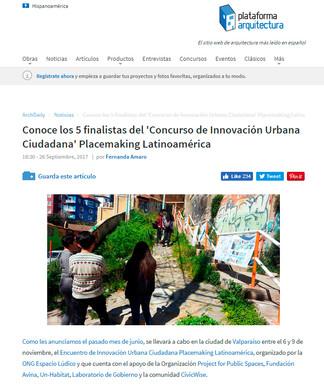 Conoce las 5 Acciones finalistas del 'Concurso de Innovación Urbana Ciudadana' Placemaking L