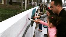 1era Acción Lúdica de LudoBarrio en La Paloma de Montevideo Uruguay