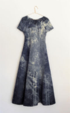 Navy blue formal dress (shibori).JPG