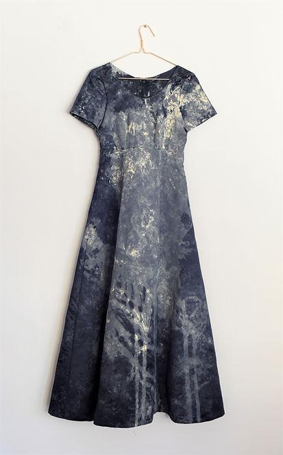 Navy blue formal dress (shibori).JPG